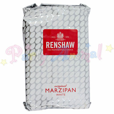 Renshaw - Ready to use Marzipan, Almond Paste - White - 1Kg