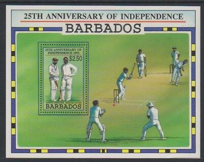 Barbados - 1991, Anniversary of Independence (Cricket) sheet - MNH - SG MS970
