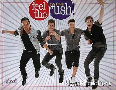 Big Time Rush 5 POSTERS Centerfolds Lot 3170A Justin Bieber on back
