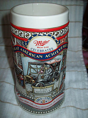 Miller High Life Beer Model - T Great American Achievements Stein