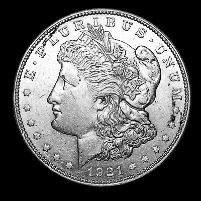 1921 D ~**ABOUT UNCIRCULATED AU**~ Silver Morgan Dollar Rare US Old Coin! #395