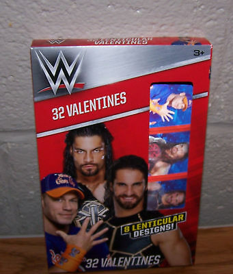 Valentines Day Cards Box Of 32 Wwe Wrestling Lenticular Valentines