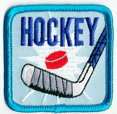 Girl Boy Cub HOCKEY Stick Game Fun Patches Crests Badges SCOUT GUIDE Iron On