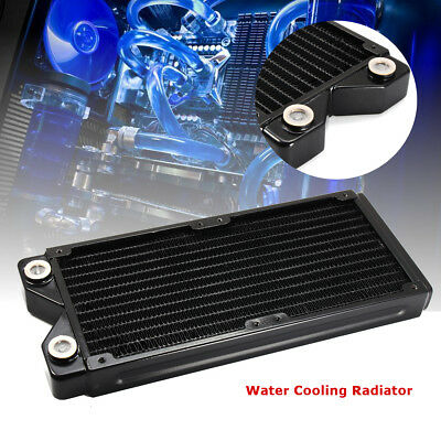 240mm 12 Tubes Copper Computer Water Cooling Radiator Cooler CPU Heat Sink G1/4