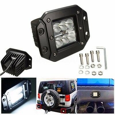 18W LED Cube Work Light Bar Driving Flood Flush Mount For Jeep Truck Offroad 4WD