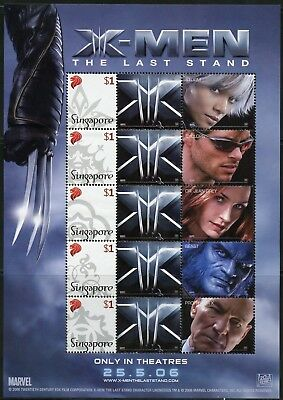 Singapore 2006 X-Men The Last Stand  Set Of Two Personalized Sheets
