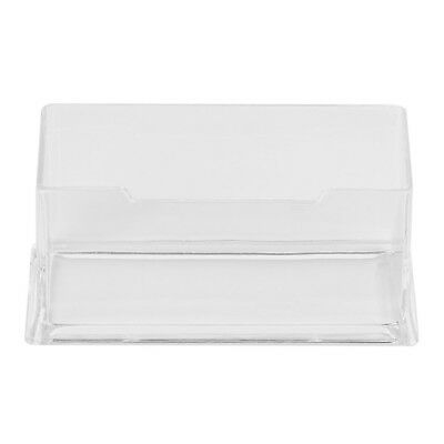 Clear Desktop Business Card Holder Display Stand Acrylic Plastic Desk Shelf FA
