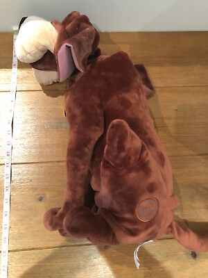 """Rare Authentic DISNEY STORE Large 21"""" TRUSTY Lady And The Tramp Soft Plush Toy"""
