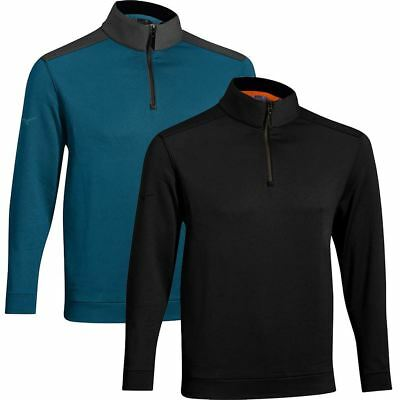 50% OFF RRP Mizuno Mens Warmalite Thermosuede 1/4 Zip Cover-up Golf Pullover