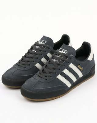 Adidas Jeans Trainers in Carbon Grey & White - adidas Originals, suede, gum sole