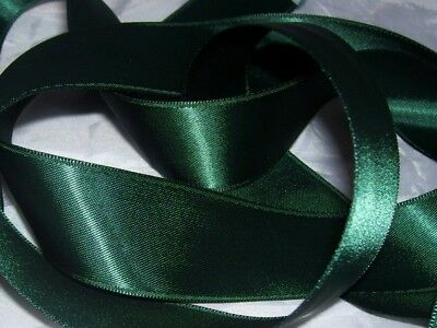 Forest Green Double Sided Satin Ribbon 3mm 6mm 10mm 16mm 25mm 38mm