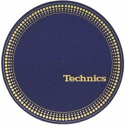Slipmat Factory Technics Strobe Slipmats (pair, blue/gold)