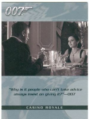 James Bond The Complete Quotable Casino Royale Chase Card Q5