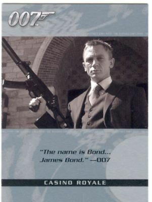 James Bond The Complete Quotable Casino Royale Chase Card Q1