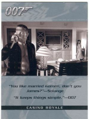 James Bond The Complete Quotable Casino Royale Chase Card Q3