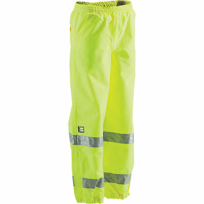 Berne Men's Class E High Visibility Waterproof Safety Pants-Lime,Large,HVP104BT