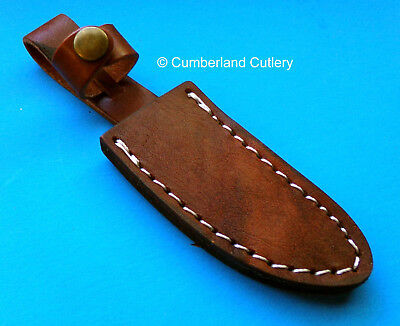 "Small Leather Sheath for Fixed Blade Knife with up to 3-1/2"" blade"