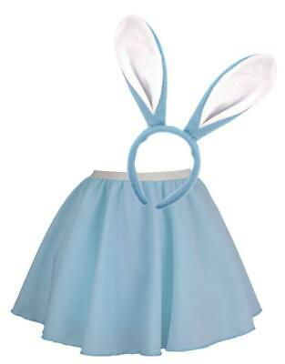 a3a80b4a5 Ladies Pastel Blue Bunny Girl Skater Skirt Set Cute Easter Fancy Dress  Costume