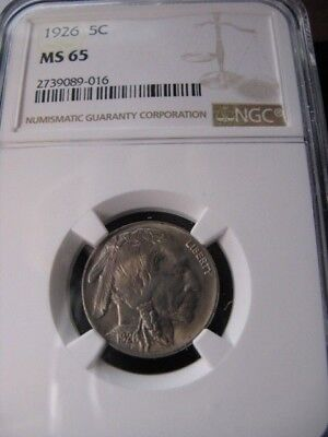 **1926**NGC Graded**MS-65** USA, ¢.05 Cent ,Indian Head
