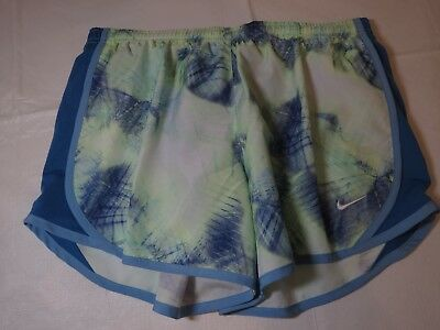 Nike DRY Dri Fit girls running shorts training fitness L 845603 410 multi*^