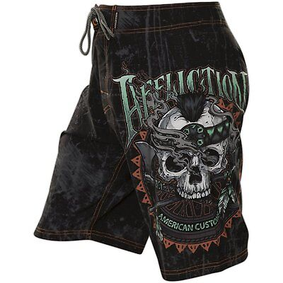 AFFLICTION Mens Board Shorts Swim Trunks CHEROKEE Biker Fight Gym MMA UFC $54