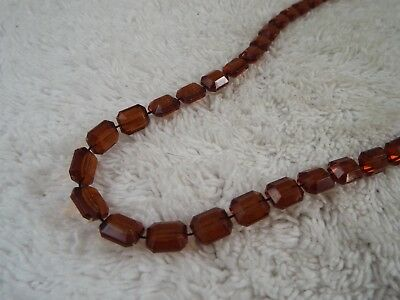 Amber Fused Bead Necklace (D66)
