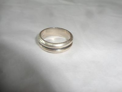Heavy Sterling Ring Band Size 9.5, Marked Only 925