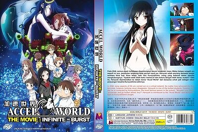 ACCEL WORLD Paket | TV+Movie | 25 Episodes | English Subs | 3 DVDs in 2 Sets