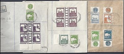 Palestine 1944 Collection Of 6 Registered Covers From 6 Different Towns Nets Tsi