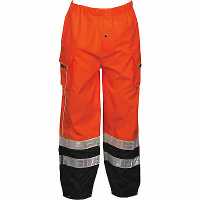 ML Kishigo Men's Class E High Visibility Rain Pants - Orange, 4XL/5XL