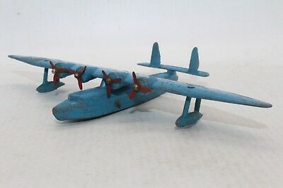 Dinky Toys No 60w Flying Boat (Blue) - Meccano Ltd - Made In England