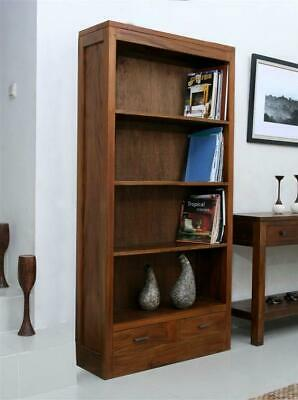 Balinese Klatton Mahogany Double Bookcase