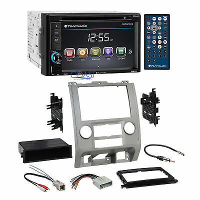 PLANET AUDIO DVD Bluetooth Radio Silver Dash Kit Harness for ... on
