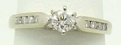 Solid 18Ct White Gold Natural Diamond Engagement / Dress Ring Valued At $2126.00