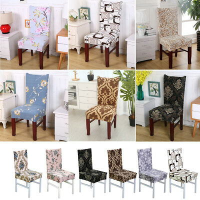 Stretch Dining Chair Cover Washable Removable Slipcover Dinning Cover 2/4/6 Pcs