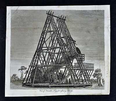 1806 Astronomy Print - Herschel's Forty Foot Reflecting Telescope - Star Gazing