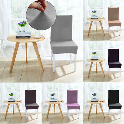 Stretch Short Plush Dining Chair Cover Removable Slipcover Machine Washable New