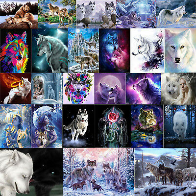 5D DIY Beauty Wolf Series Diamond Painting Embroidery Cross Stitch Decor Crafts