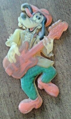"Cute Ol'e Goofy With Guitar Translucent Resin Hard Plastic 10"" Wall Hanger"