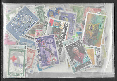 PHILIPPINES STAMP COLLECTION & PACKET 200 DIFFERENT Mostly Used NICE SELECTION