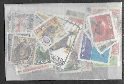 RHODESIA STAMP COLLECTION PACKET 50 DIFFERENT Used NICE SELECTION