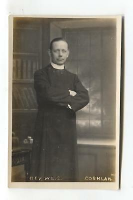 Reverend W L S Coghlan - old real photo postcard