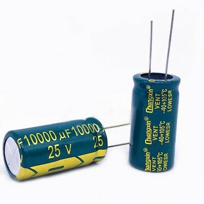 2PCS 25V 10000uF High Frequency LOW ESR Radial Electrolytic Capacitors For Audio