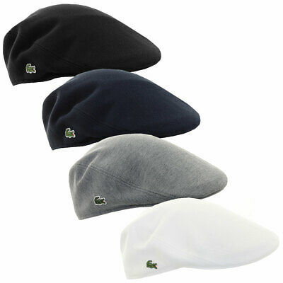 Lacoste Mens 2018 RK0345 Cotton Pique Flat Cap Traditional