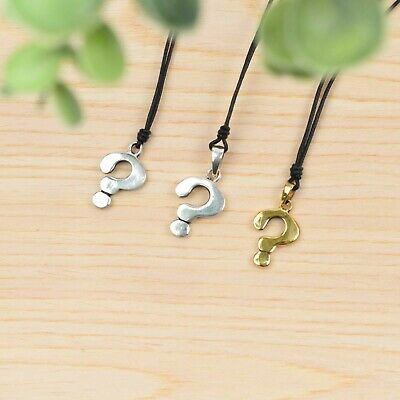 Question Mark 92.5 Sterling Silver Charm Necklace Pendant Jewelry