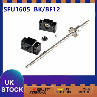 Ball Screw SFU1605 w Ball Nut End machine L300 - 1500MM w BK12/BF12 End Support