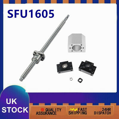 L300MM-1500MM CNC Ball Screw SFU1605 C7 & BK/BF12 End Support & Ballnut Housing
