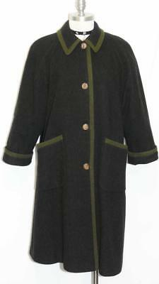 SCHNEIDERS / SALZBURG ~ BLACK LODEN WOOL Women AUSTRIA Winter Over COAT 38 14 L