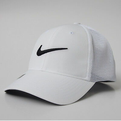 NEW Nike Tour Legacy91 Mesh Fitted Hat Cap - White Black - LG Extra Large L f8a06a1f141e