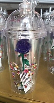 Disney Light Up Rose Sipper Tumbler Cup Purple Flower & Garden 2018